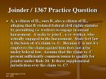 joinder 1367 practice question23