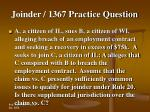 joinder 1367 practice question24