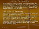joinder review q s