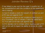 joinder review q s46