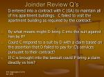 joinder review q s47