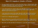 rule 19 compulsory joinder of parties29