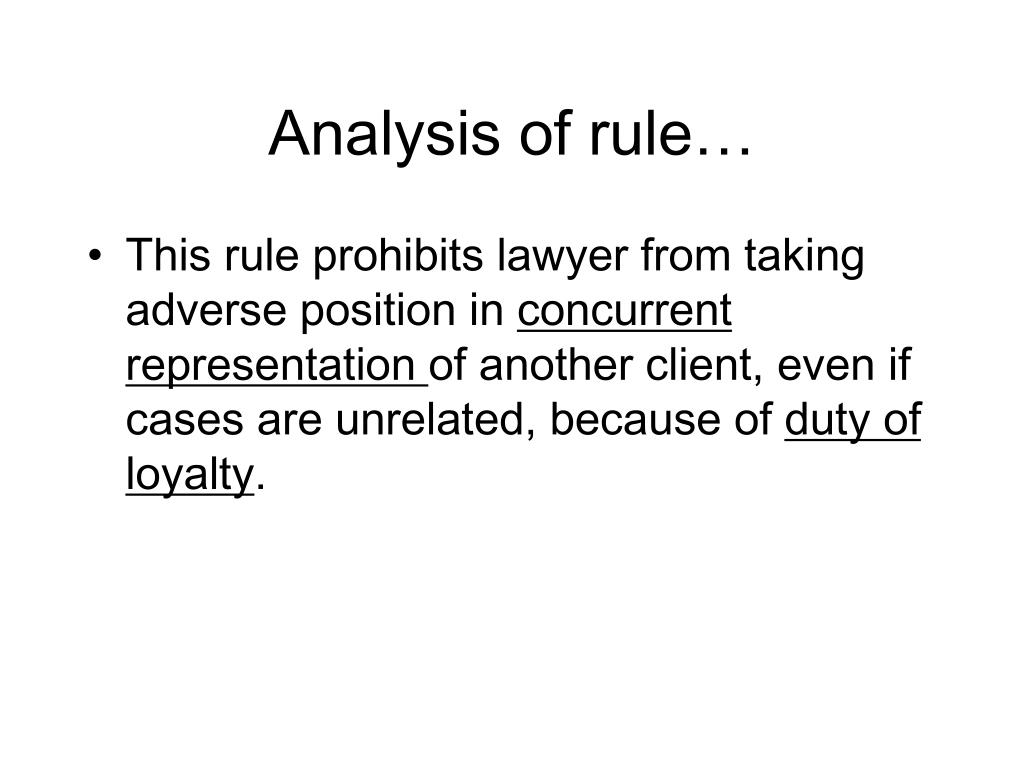 Analysis of rule…