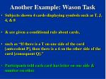 another example wason task