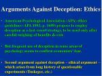 arguments against deception ethics
