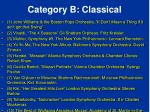 category b classical