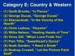 category e country western
