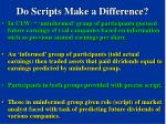 do scripts make a difference75