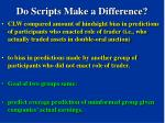 do scripts make a difference79