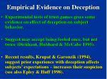 empirical evidence on deception