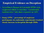 empirical evidence on deception102
