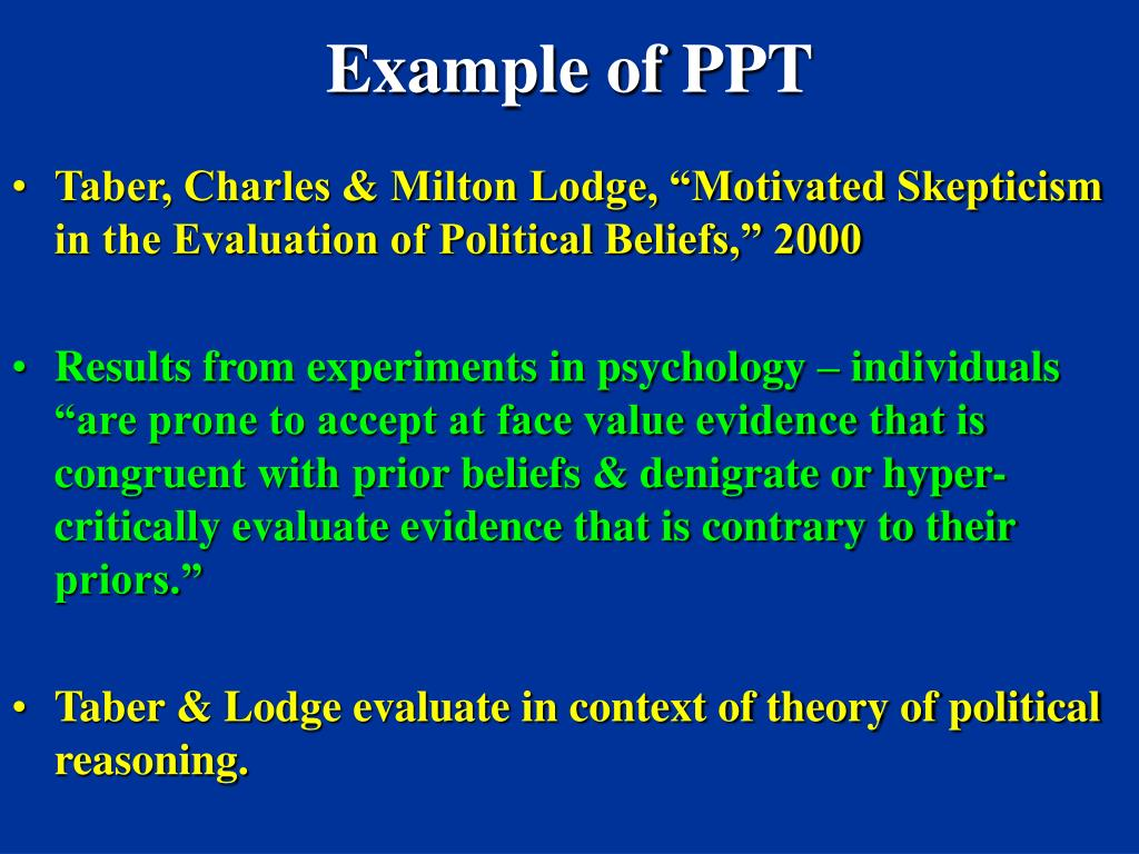 Example of PPT