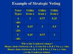 example of strategic voting10