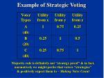 example of strategic voting11