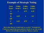 example of strategic voting9