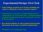 experimental design first task