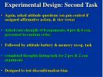 experimental design second task