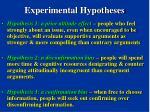 experimental hypotheses