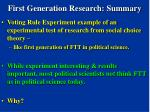 first generation research summary