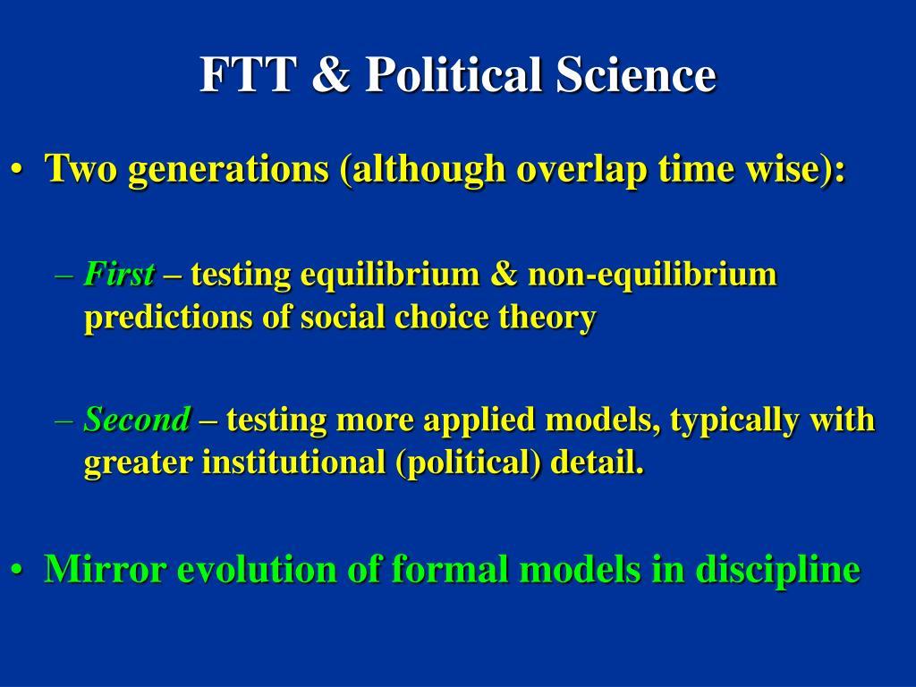 FTT & Political Science