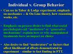 individual v group behavior89