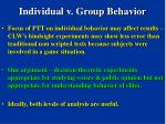 individual v group behavior90