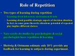 role of repetition92