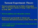 turnout experiment theory