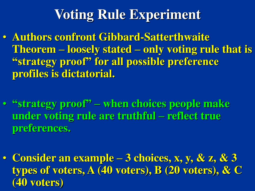 Voting Rule Experiment
