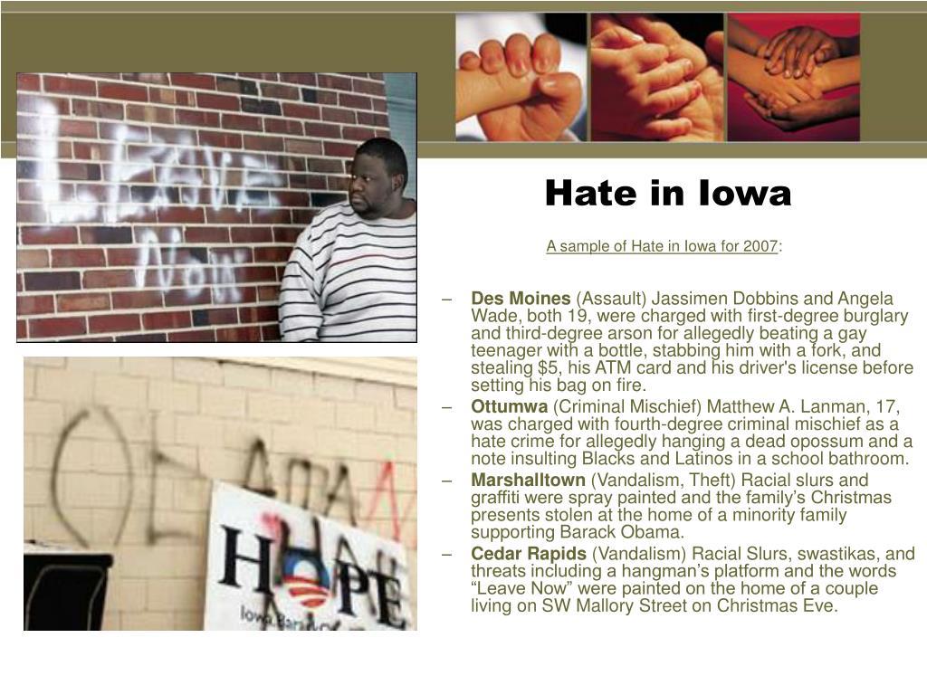 Hate in Iowa
