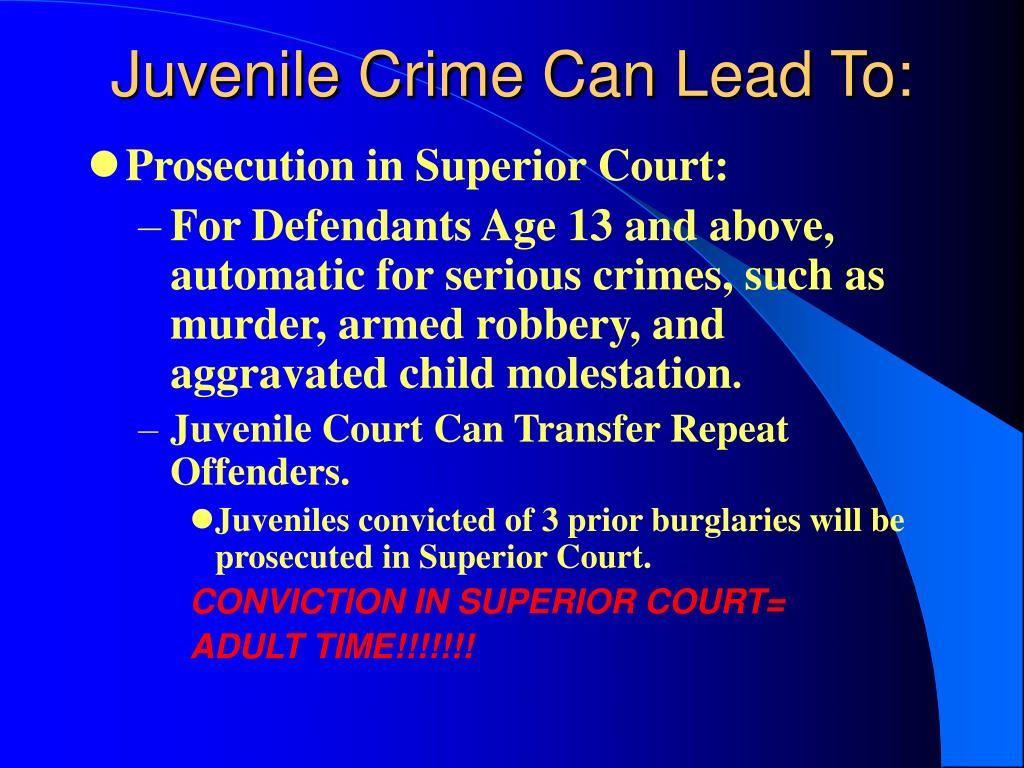juvenil crimes