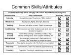 common skills attributes