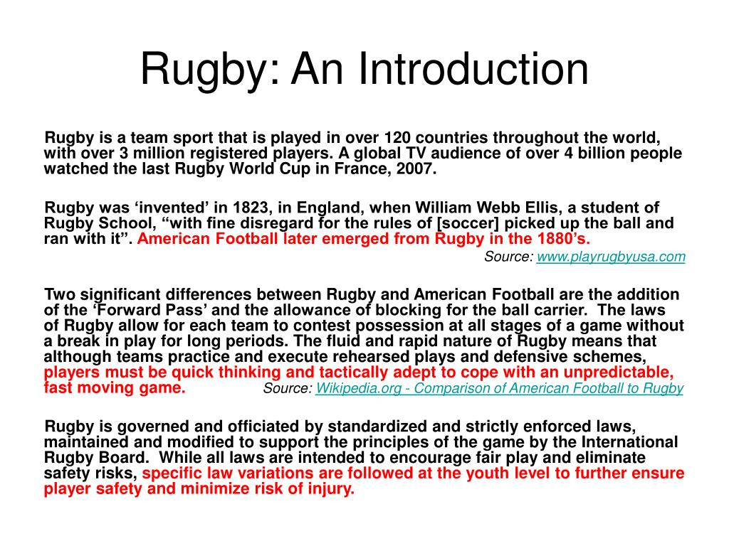 Rugby: An Introduction