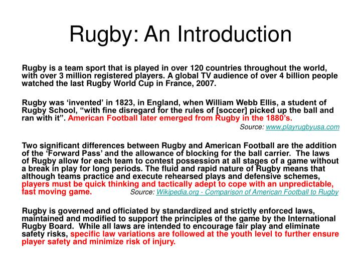 Rugby an introduction
