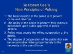 sir robert peel s nine principles of policing