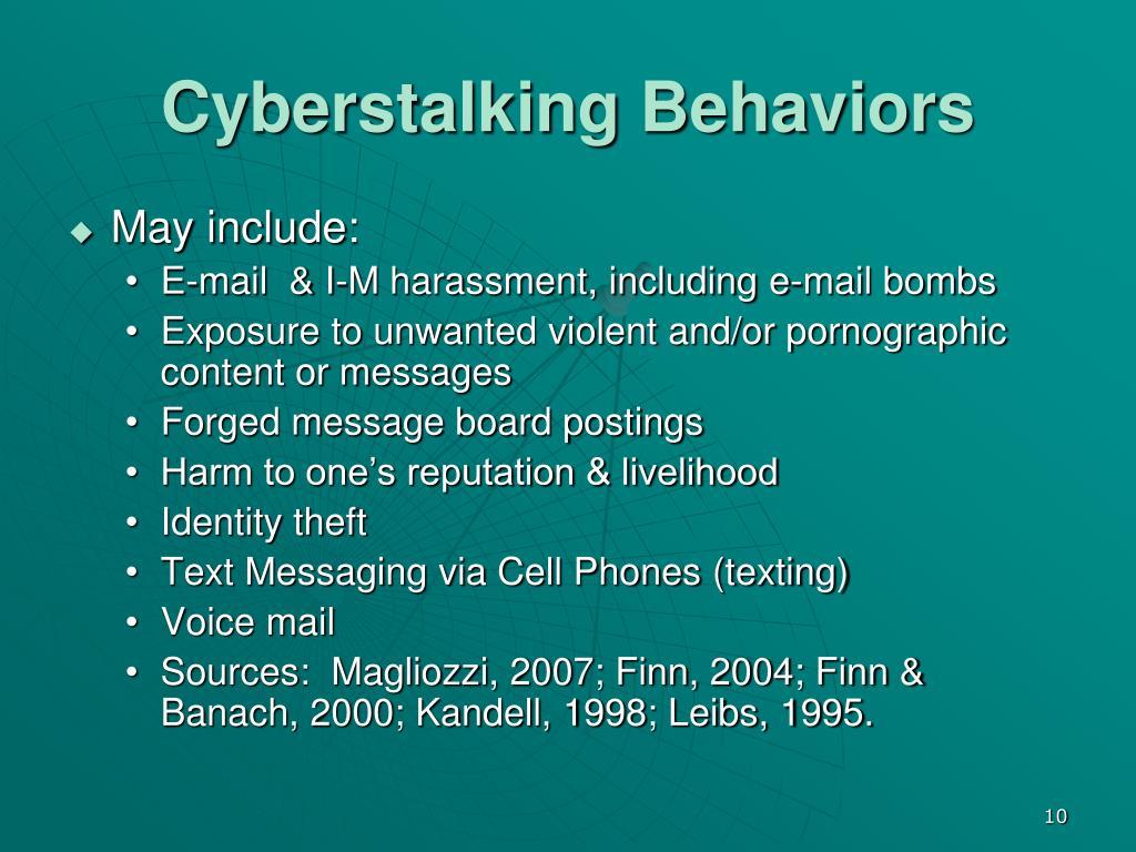 Cyberstalking Behaviors