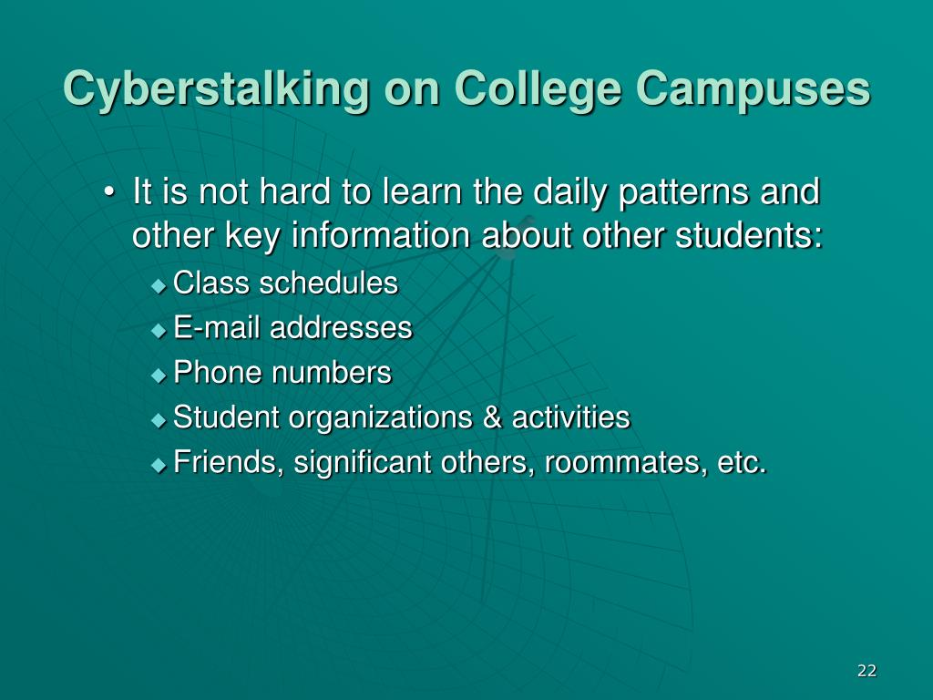 Cyberstalking on College Campuses