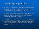 defining the problem 2005 yrbs
