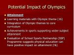 potential impact of olympics