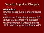potential impact of olympics7
