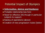 potential impact of olympics8