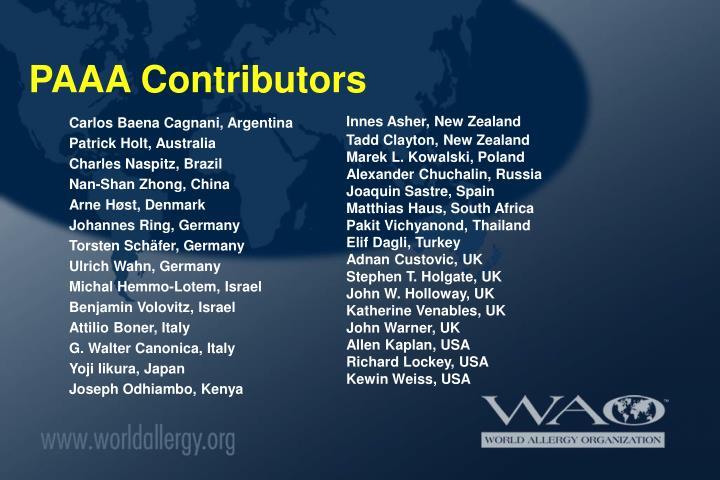 Paaa contributors