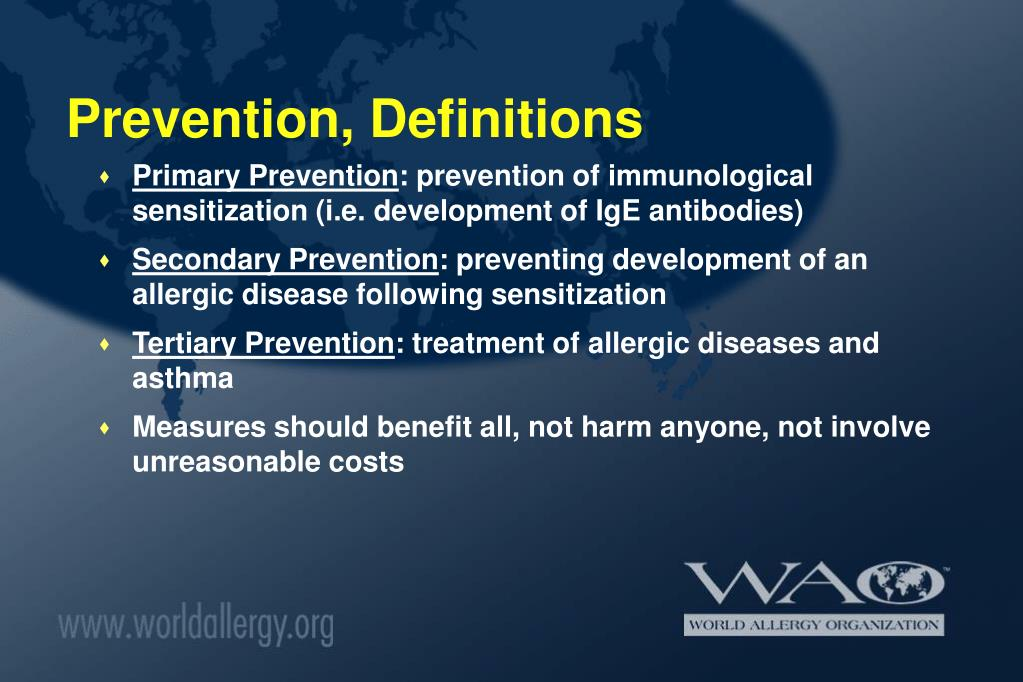 Prevention, Definitions