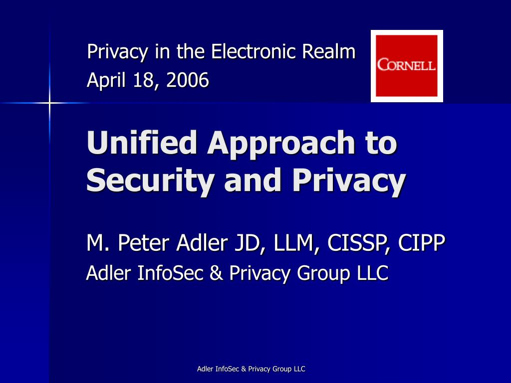 Privacy in the Electronic Realm