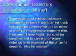 state rubbish collectors association v siliznoff