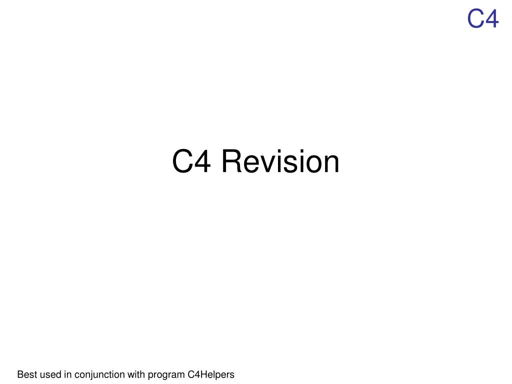 c4 revision l.