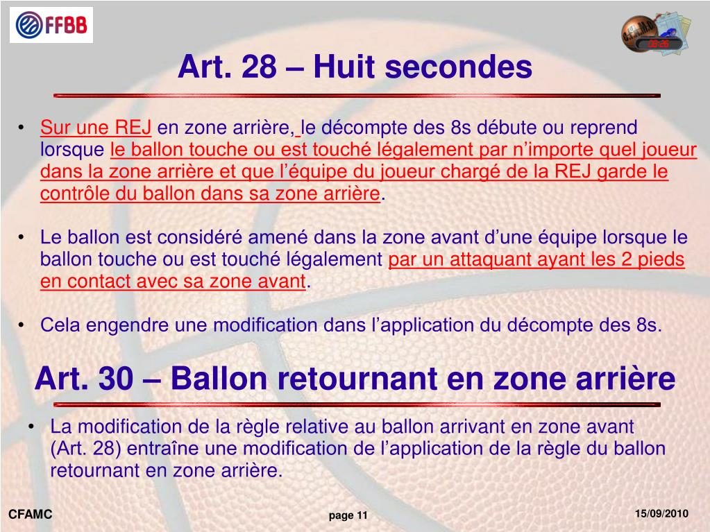 Art. 28 – Huit secondes