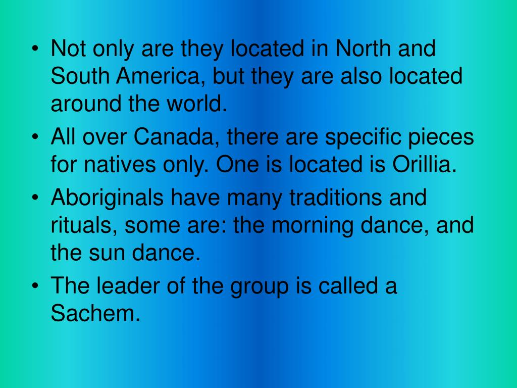 Not only are they located in North and South America, but they are also located around the world.