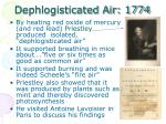 dephlogisticated air 1774