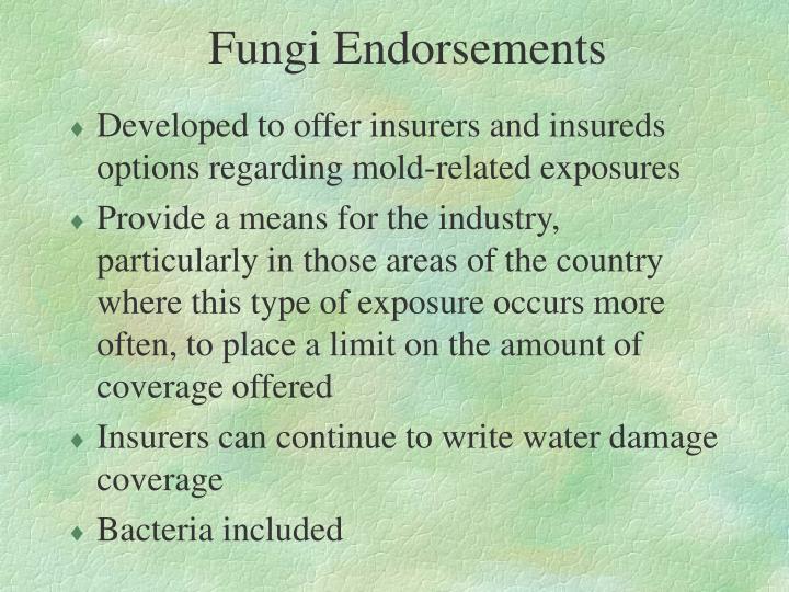 Fungi Endorsements